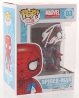 "Stan Lee Signed ""Marvel"" Spider-Man #03 Funko Pop! Vinyl Figure (Radtke COA & Lee Hologram) at PristineAuction.com"