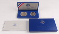 Set of (2) Commemorative 1986-S Ellis Island Proof Silver Coins