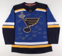 "St. Louis Blues ""2019 Stanley Cup Champions"" Jersey Signed by (17) with Jake Allen, Jordan Binnington, Vladimir Tarasenko, Alexander Steen (Fanatics Hologram) at PristineAuction.com"
