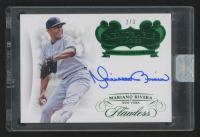 2018 Panini Flawless Memorable Marks Autographs Emerald #MMMR1 Mariano Rivera at PristineAuction.com