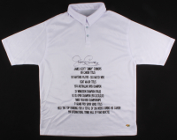 Jimmy Connors Signed Career Highlight Stat Polo Tennis Shirt (MAB Hologram)