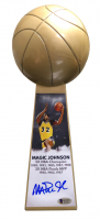 "Magic Johnson Signed Los Angeles Lakers 14"" Championship Basketball Trophy (Beckett COA) at PristineAuction.com"