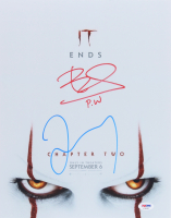 """James McAvoy & Bill Skarsgard Signed """"It: Chapter Two"""" 11x14 Photo Inscribed """"P.W."""" (PSA COA) at PristineAuction.com"""