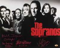 """""""The Sopranos"""" Signed 16x20 Photo Cast-Signed by (4) With Michael Imperioli, Vincent Pastore, Al Sapienza & Federico Castelluccio with Multiple Inscriptions (MAB Hologram)"""