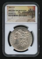 1884-O Morgan Silver Dollar - Stage Coach Label (NGC Brilliant Uncirculated)