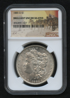 1885-O Morgan Silver Dollar - Stage Coach Label (NGC Brilliant Uncirculated)