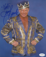 """Jerry """"The King"""" Lawler Signed 8x10 Photo Inscribed """"King"""" (JSA SOA)"""