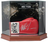 MIke Tyson Signed Cleto Reyes Boxing Glove with High-Quality Display Case (JSA COA)