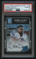 2016 Donruss Optic Rated Rookies Autographs Black #168 Ezekiel Elliott #04/25 (PSA 10) at PristineAuction.com