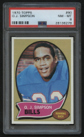 1970 Topps #90 O.J. Simpson RC (PSA 8) at PristineAuction.com