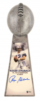 "Roger Staubach Signed Dallas Cowboys 15"" Lombardi Football Championship Trophy (Beckett COA) at PristineAuction.com"