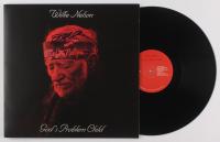 "Willie Nelson Signed ""God's Problem Child"" Vinyl Record Album (JSA COA)"