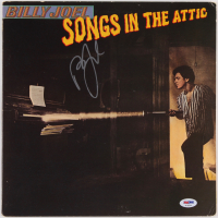 """Billy Joel Signed """"Songs In The Attic"""" Vinyl Album Cover (PSA COA) at PristineAuction.com"""