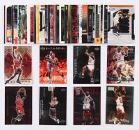 Lot of (50) Michael Jordan Basketball Cards with 1997-98 SkyBox Premium #29, 1999-00 Black Diamond Jordan Diamond Gallery #DG4, 1997 Upper Deck Tribute #MJ33, 1999 Upper Deck Athlete of the Century #5