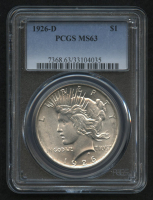 1926-D $1 Peace Silver Dollar (PCGS MS 63)
