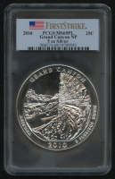 2010 5oz Silver Jumbo 25¢ - Grand Canyon - Arizona - America The Beautiful - ATB - Jumbo Quarter - First Strike (PCGS MS 69 PL) at PristineAuction.com