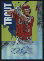 2019 Topps Fire Autographs #FAMT Mike Trout at PristineAuction.com