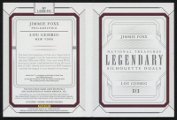 2019 Panini National Treasures Legendary Silhouette Duals Booklets Black Relics #10 Jimmie Foxx / Lou Gehrig #3/3 at PristineAuction.com