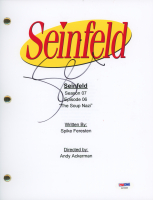 "Jerry Seinfeld Signed ""Seinfeld: The Soup Nazi"" Episode Script (PSA COA)"