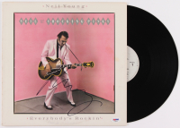"Neil Young Signed ""Everybody's Rockin'"" Vinyl Album Cover (PSA COA) at PristineAuction.com"