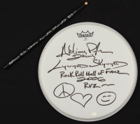 """Artimus Pyle Signed 14"""" Drumhead and Drum Stick with (4) Inscriptions (Hollywood Collectibles COA) at PristineAuction.com"""