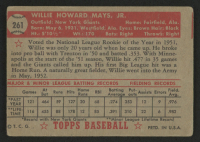 1952 Topps #261 Willie Mays at PristineAuction.com