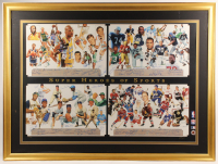 """Super Heroes of Sports"" 38x51 Custom Framed Artist Proof Lithograph Signed by (68) with Joe Namath, Ernie Banks, Kareem Abdul-Jabbar, Bobby Hull (JSA ALOA) at PristineAuction.com"
