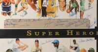 """Super Heroes of Sports"" 38x51 Custom Framed Artist Proof Lithograph Signed by (68) with Joe Namath, Ernie Banks, Kareem Abdul-Jabbar, Bobby Hull (JSA ALOA) at PristineAuction.com"