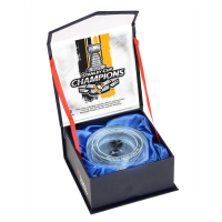 Pittsburgh Penguins 2017 Stanley Cup Champions Crystal Puck - Filled with Ice from the 2017 Stanley Cup Final (Fanatics COA) at PristineAuction.com