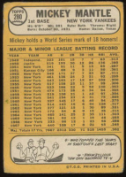 1968 Topps #280 Mickey Mantle at PristineAuction.com