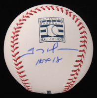 "Trevor Hoffman Signed OML Hall of Fame Baseball Inscribed ""HOF 18"" (JSA COA) at PristineAuction.com"
