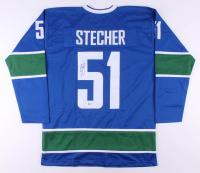 Troy Stecher Signed Jersey (Beckett COA)