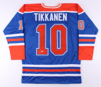 """Esa Tikkanen Signed Jersey Inscribed """"85, 87, 88, 90 Cup"""" (Beckett COA) at PristineAuction.com"""