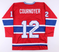 "Yvan Cournoyer Signed Jersey Inscribed ""HOF 1982"" (Beckett COA) at PristineAuction.com"