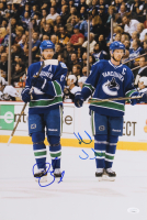 Henrik Sedin & Daniel Sedin Signed Vancouver Canucks 12x18 Photo (JSA COA)