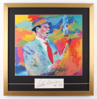 "LeRoy Neiman Signed ""Frank Sinatra"" 23.5x24 Custom Framed Cut Display Inscribed ""'83"" (PSA COA)"