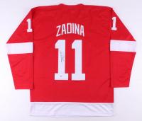 Filip Zadina Signed Jersey (Beckett COA)