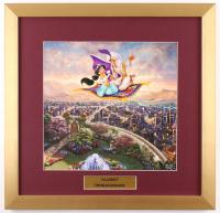 "Thomas Kinkade Walt Disney's ""Aladdin"" 17.5x18 Custom Framed Print Display"