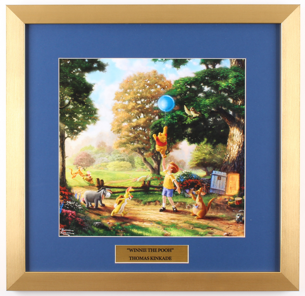 "Thomas Kinkade Walt Disney's ""Winnie-the-Pooh"" 17.5x18 Custom Framed Print Display at PristineAuction.com"