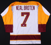 "Neal Broten Signed Jersey Inscribed ""RAH"" (TSE COA) at PristineAuction.com"
