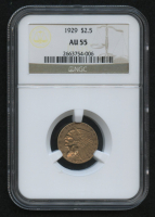 1929 $2.50 Indian Head Quarter Eagle Gold Coin (NGC AU 55) at PristineAuction.com