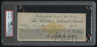 Benjamin Harrison Signed Personal Bank Check - Filled Out by Hand (PSA Encapsulated)