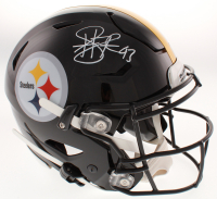 Troy Polamalu Signed Pittsburgh Steelers Full-Size Authentic On-Field Speedflex Helmet (Beckett COA)