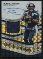 2019 Panini Spectra Vested Veterans Jersey Autographs Neon Orange #19 Russell Wilson #1/10 at PristineAuction.com