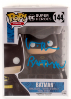 "Val Kilmer Signed ""DC Comics: Super Heroes"" Batman #144 Funko Pop! Vinyl Figure Inscribed ""Batman"" (Beckett COA) at PristineAuction.com"