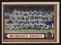 1957 Topps #114 Milwaukee Braves Team Card