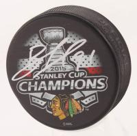 Brad Richards Signed Chicago Blackhawks 2015 Stanley Cup Champions Logo Hockey Puck (Schwartz COA)