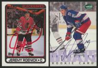Lot of (2) Signed Hockey Cards with Jeremy Roenick Signed 1990-91 Topps #7 & Shane Doan Signed 1995-96 Parkhurst International #267 (JSA Hologram)