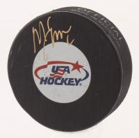 Mike Eruzione Signed USA Hockey Logo Hockey Puck (Schwartz COA)