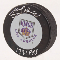 """Marcel Dionne Signed Los Angeles Kings Throwback Logo Hockey Puck Inscribed """"1,771 PTS"""" (Schwartz COA)"""
